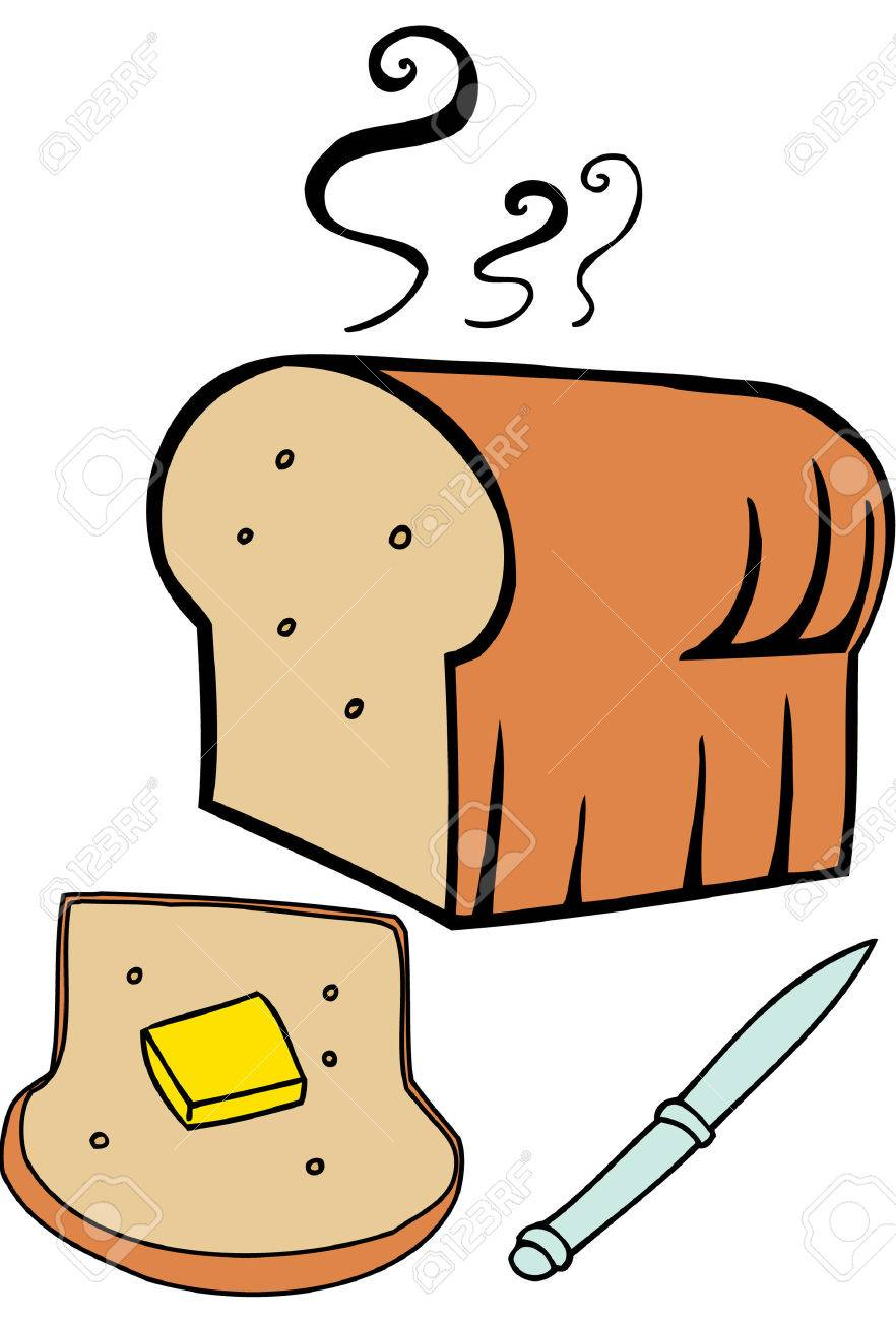 bread butter isolated on a white background. Stock Vector - 5624838
