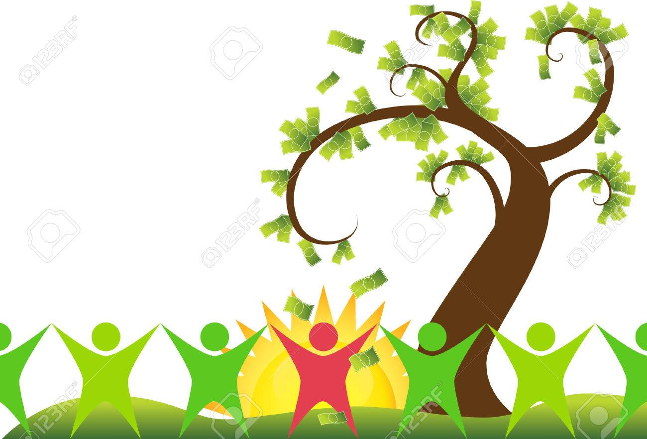 money tree people isolated on a white background. Stock Vector - 5730636