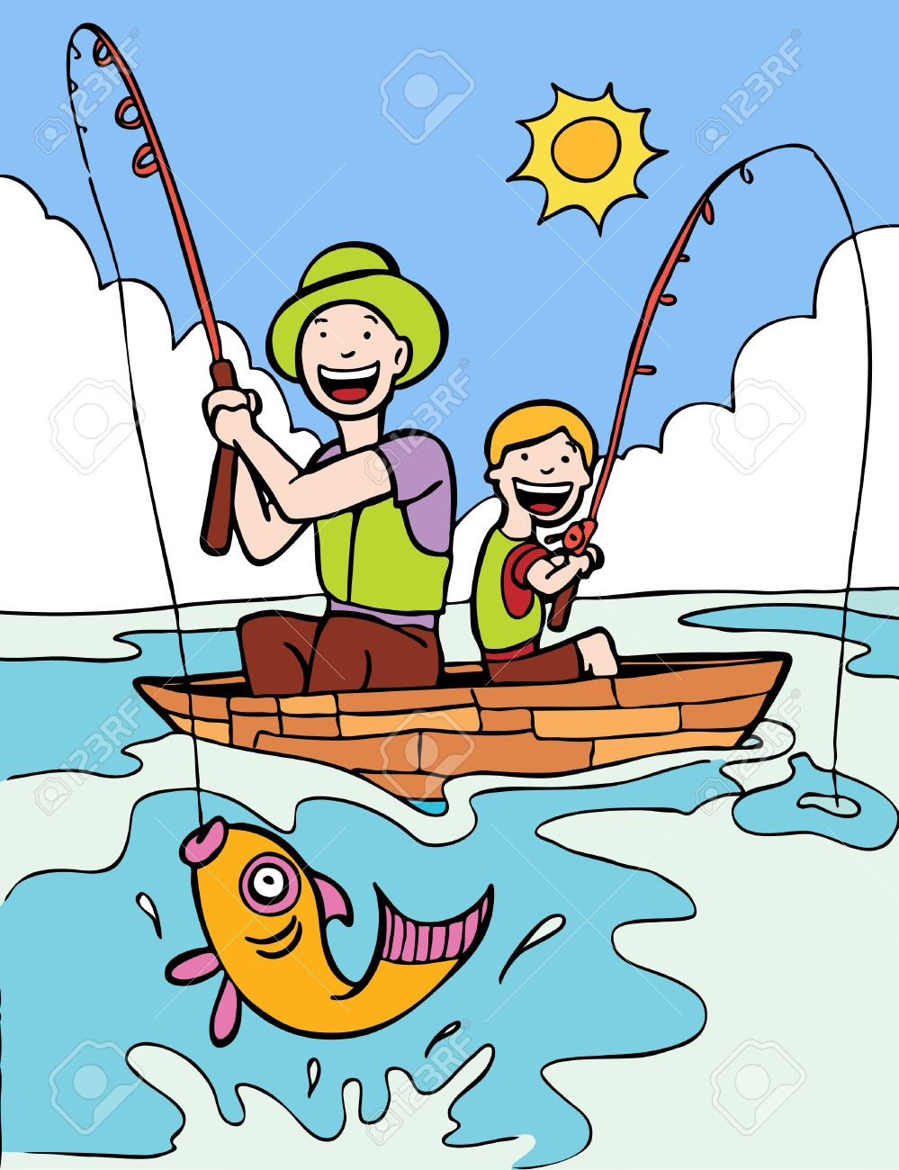 Image result for fishing cartoon image