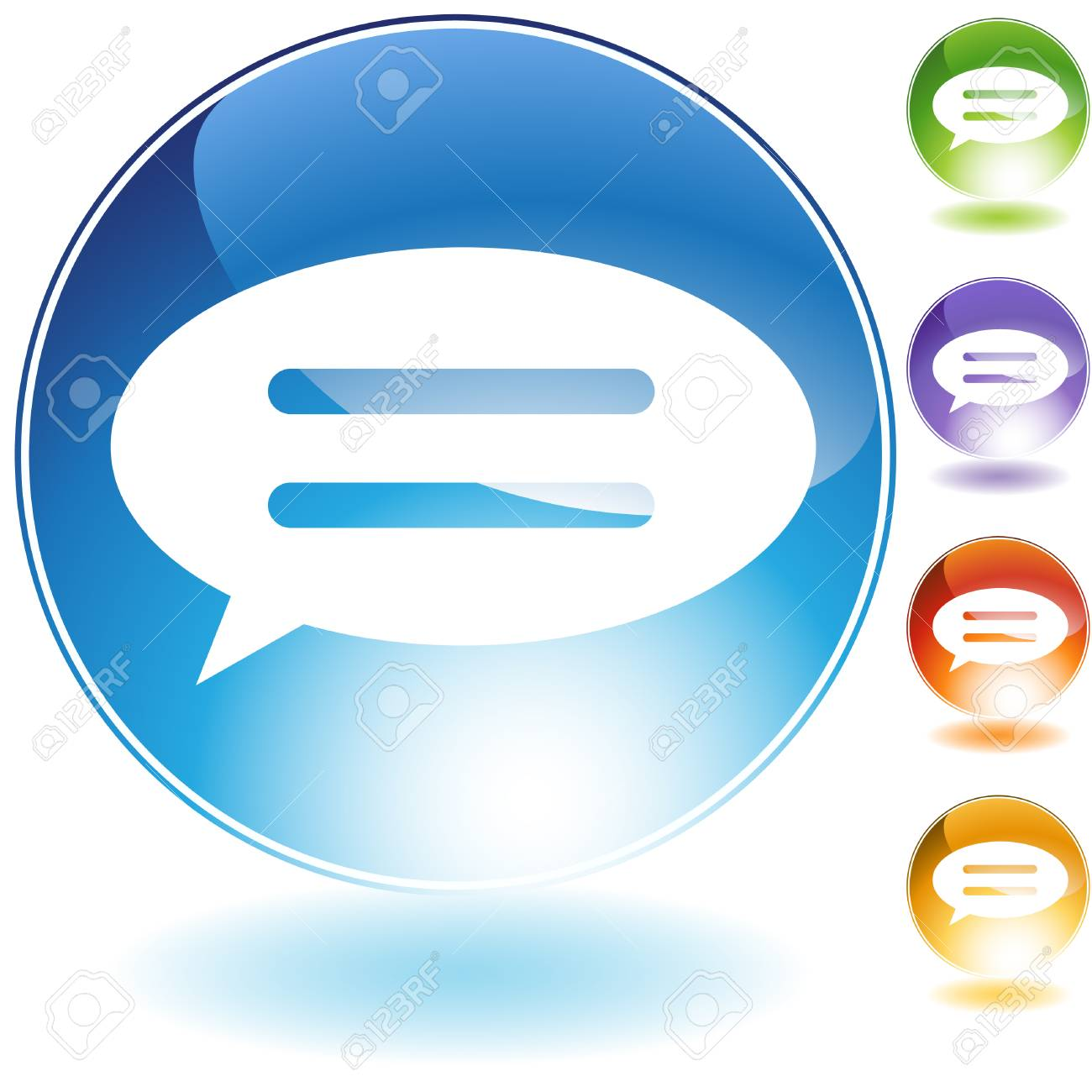 speech bubble crystal isolated on a white background. Stock Vector - 5807904