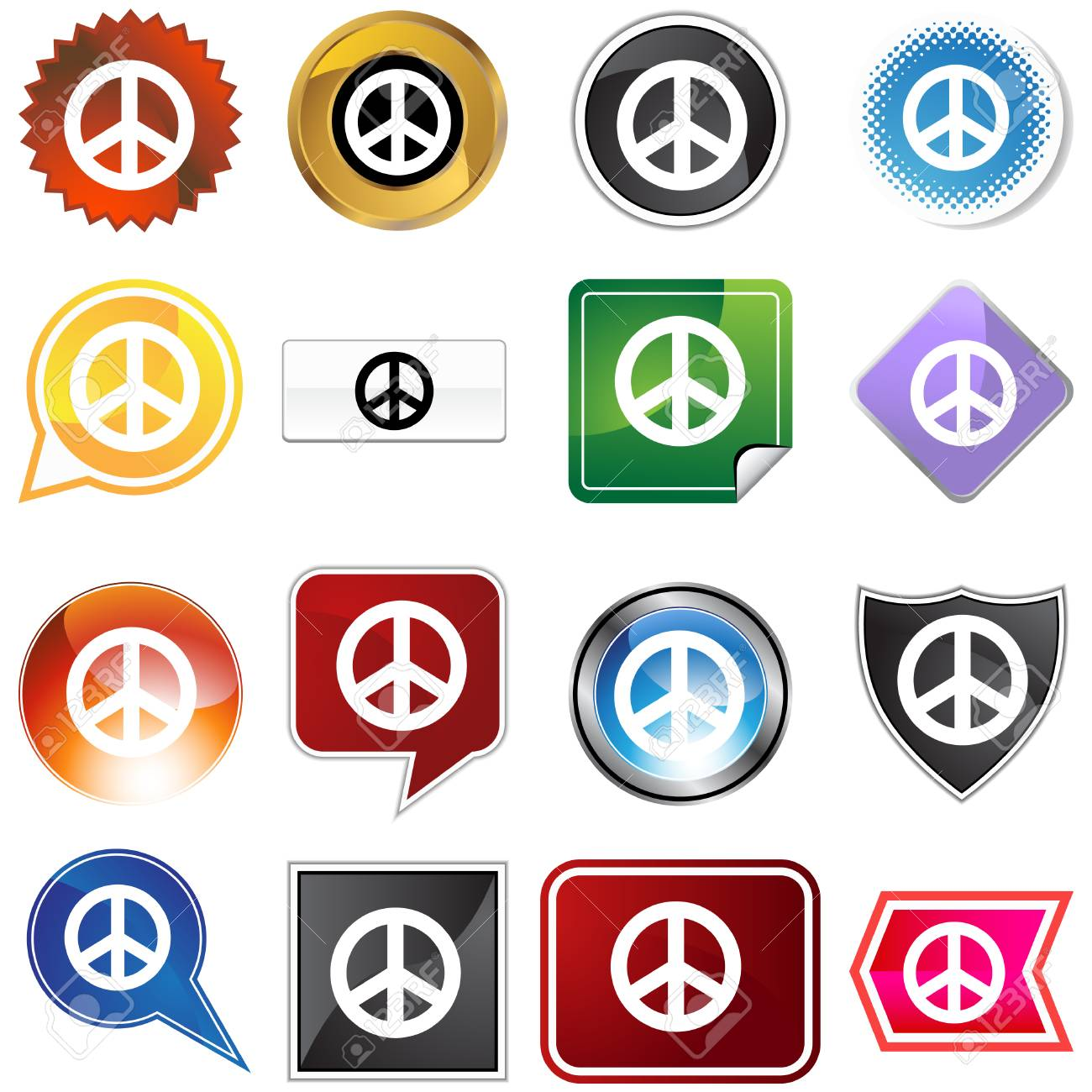 peace icon isolated on a white background. Stock Vector - 5829641