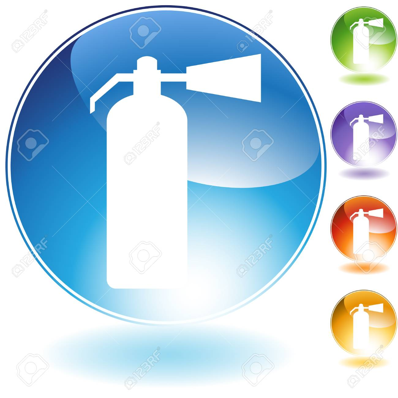Fire extinguisher crystal icon isolated on a white background. Stock Vector - 5892080