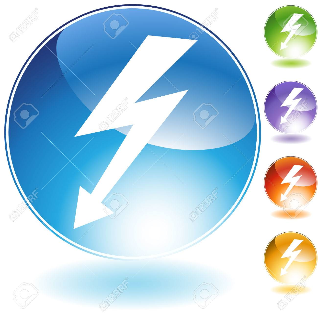 High voltage crystal icon isolated on a white background. Stock Vector - 5892070