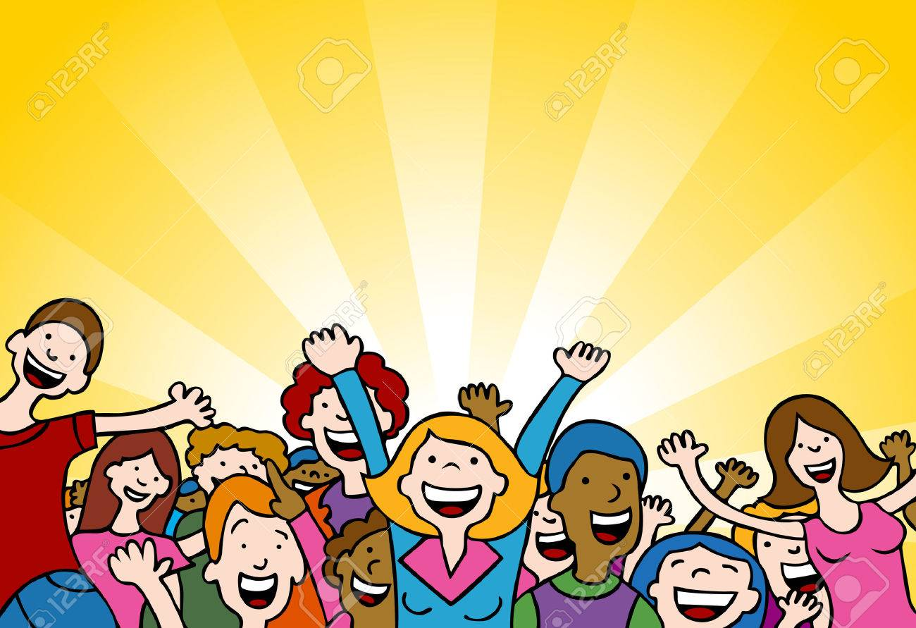 6238275-Cartoon-of-people-cheering-in-am