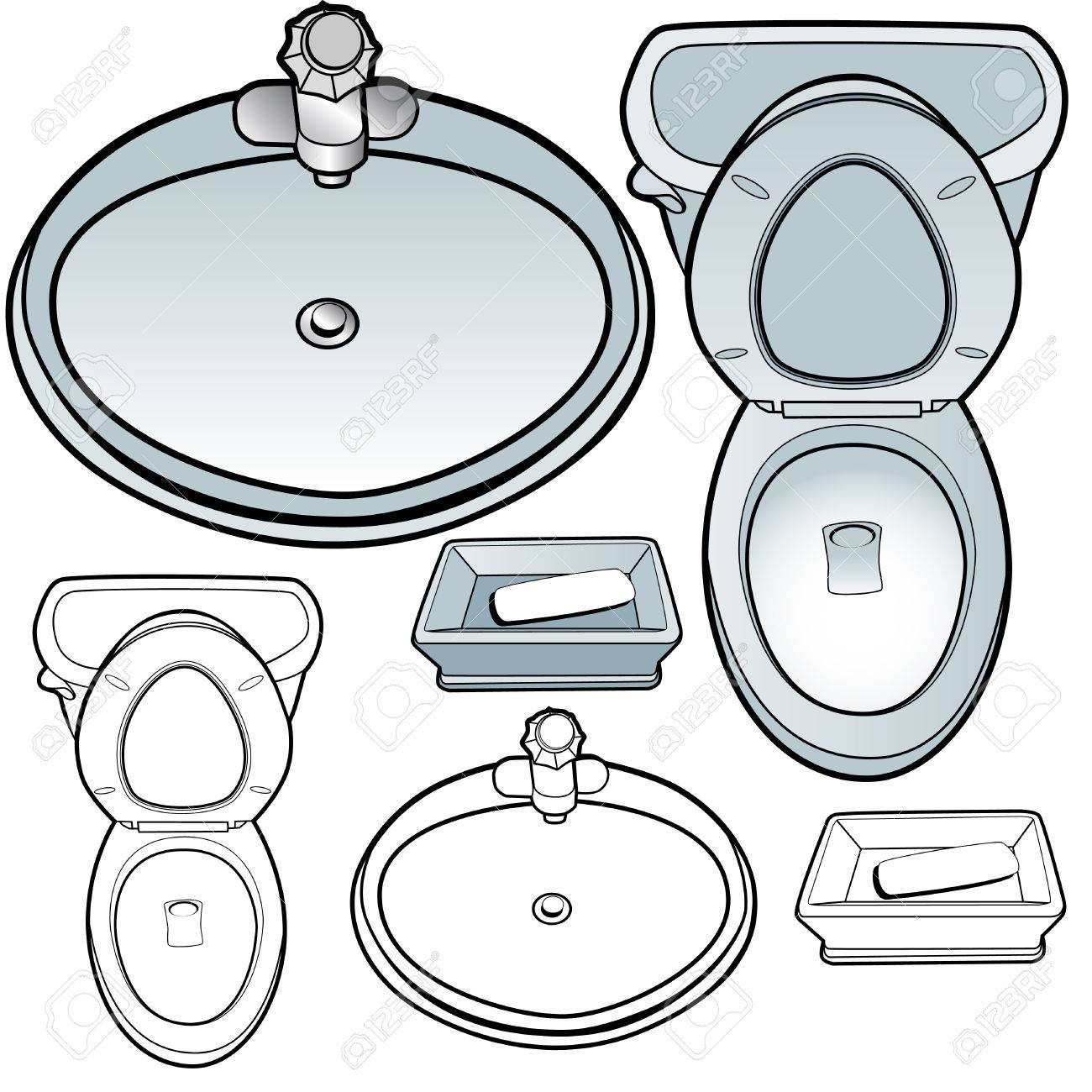 Toilet sink soapdish isolated on a white background. Stock Vector - 6288667