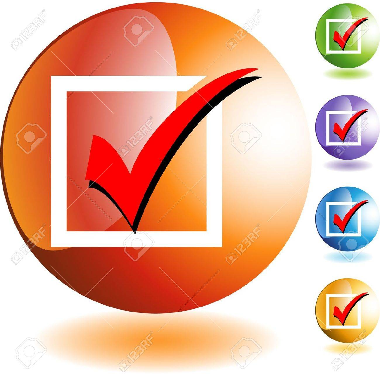 Checklist web button isolated on a background Stock Vector - 6649093
