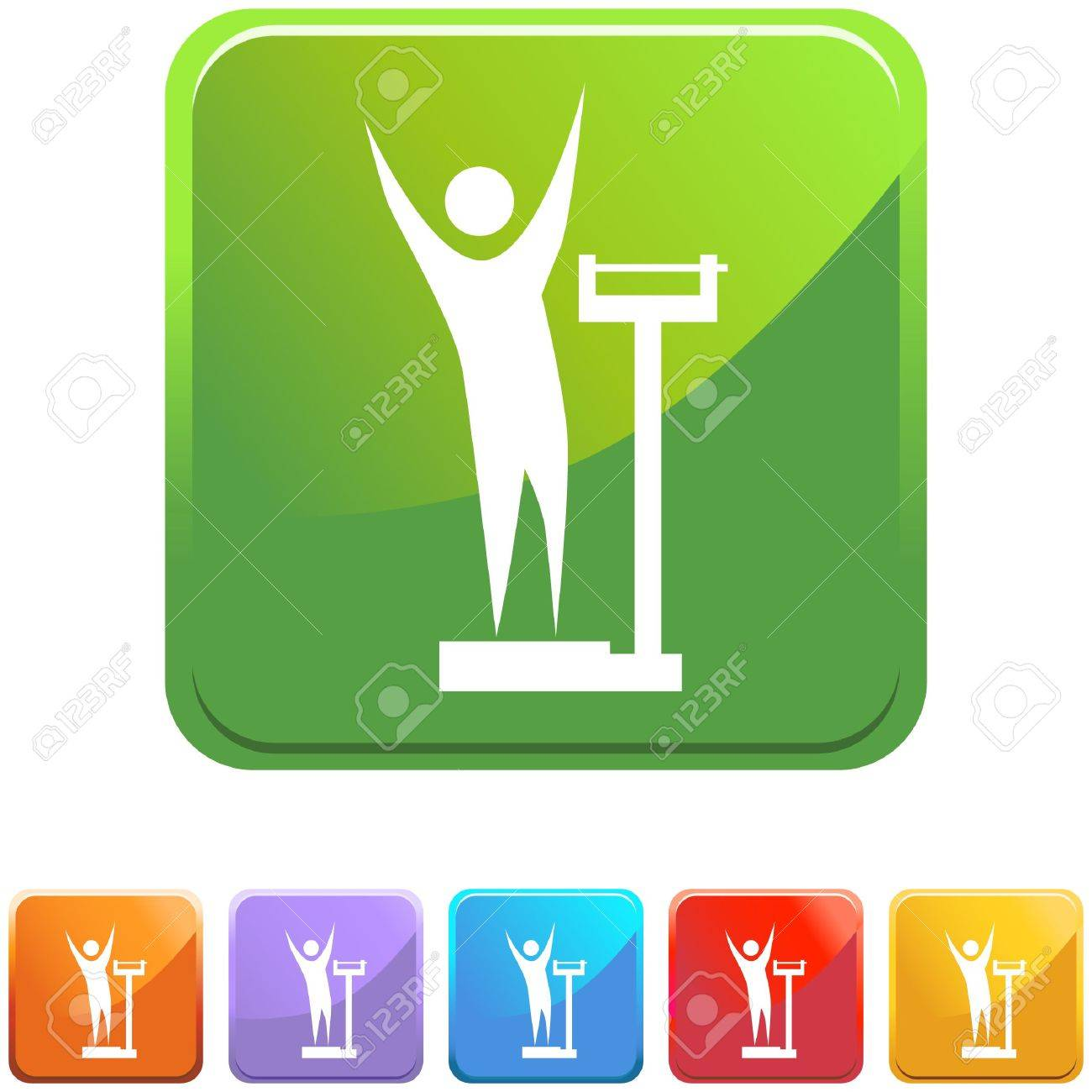 Weight Loss Stock Vector - 6830652