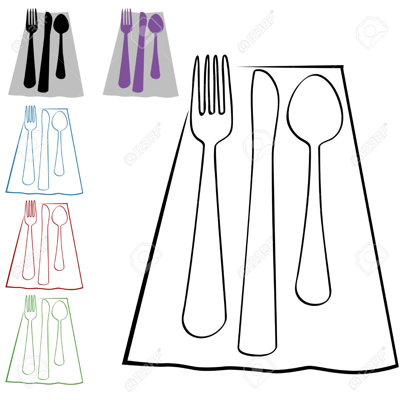Place Setting Set Stock Vector - 7494383