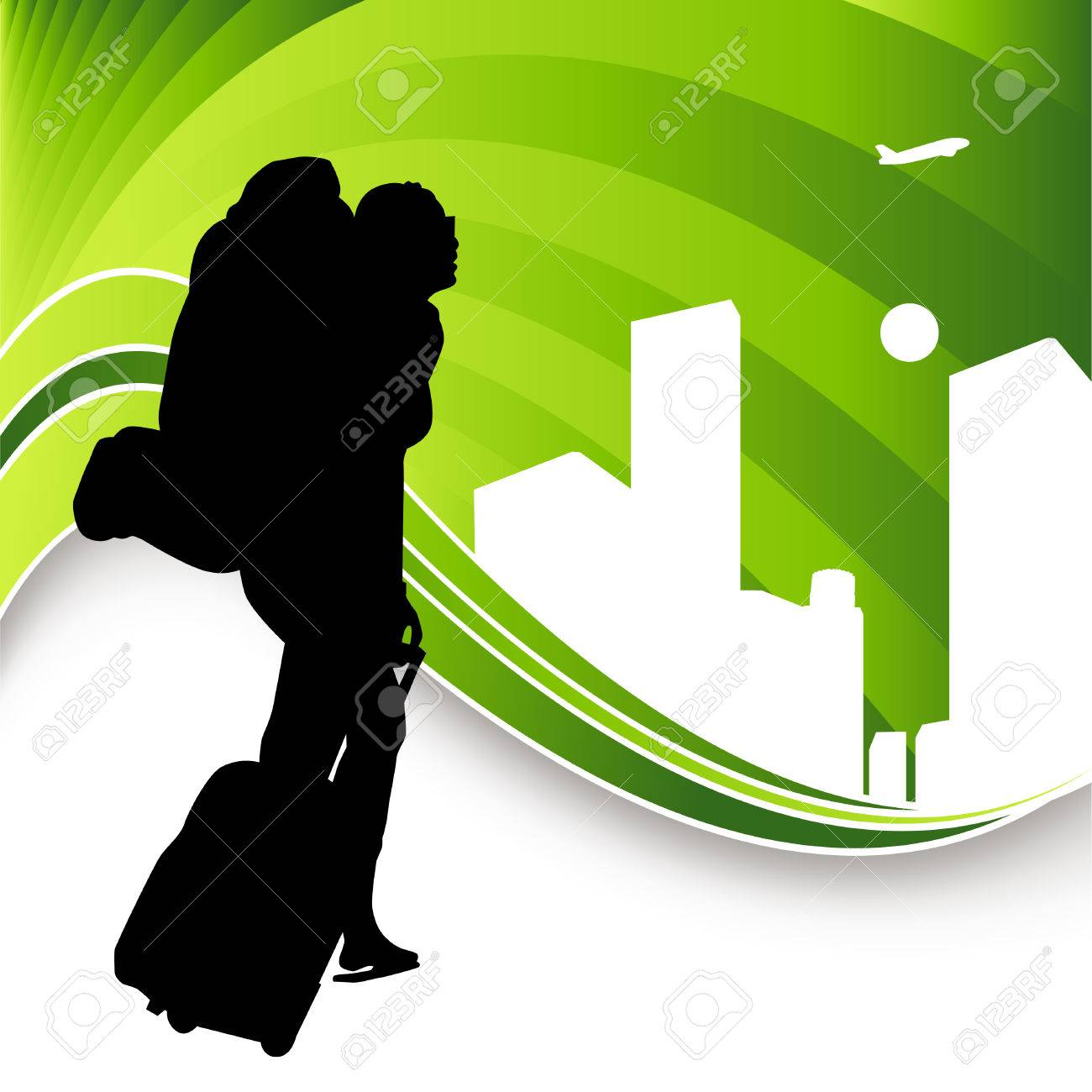 An image of a backpack traveler Stock Vector - 7684703