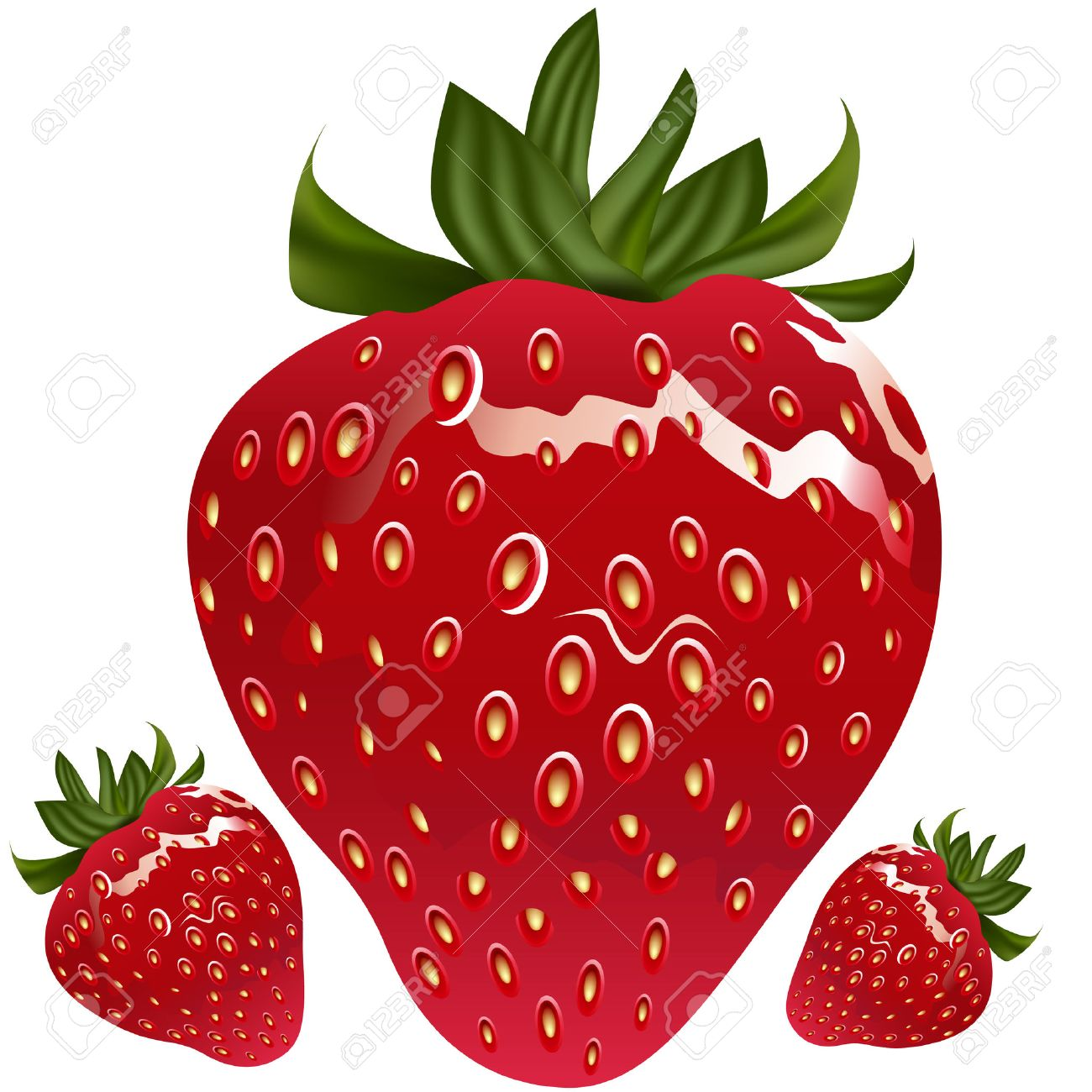 An image of a realistic strawberry. - 7684960