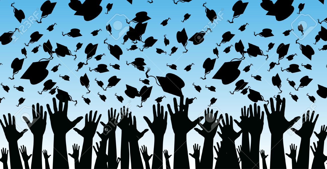 An image of students graduating. - 7944387