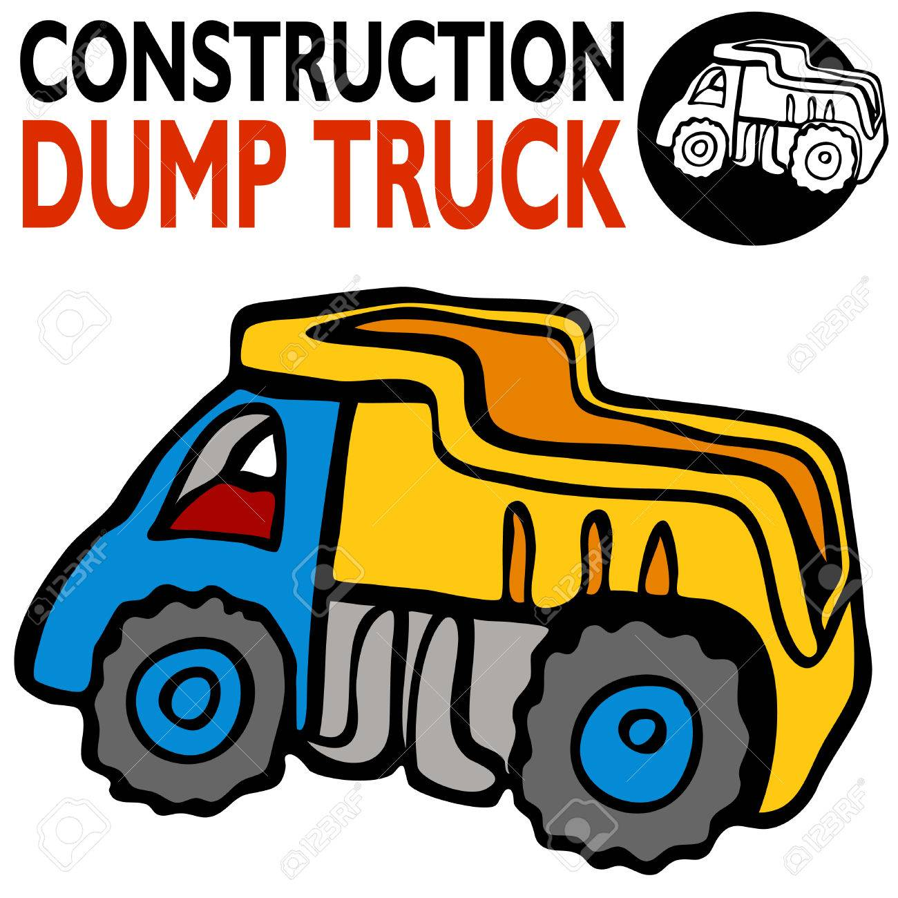 an image of a cartoon dump truck royalty free cliparts vectors