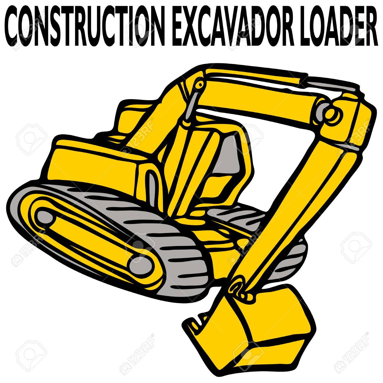 An image of a construction excavator loader. Stock Vector - 8058180