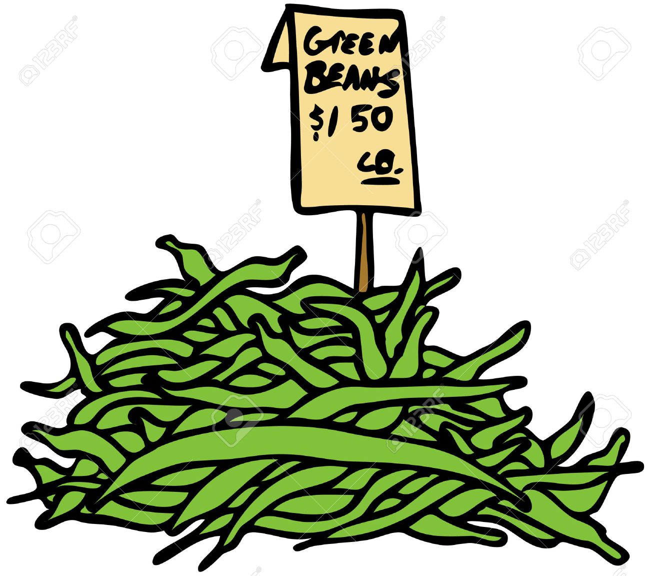 An image of green beans. Stock Vector - 8130354