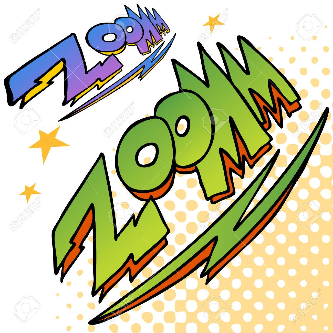 An image of zoom bolt sound text. Stock Vector - 8130404