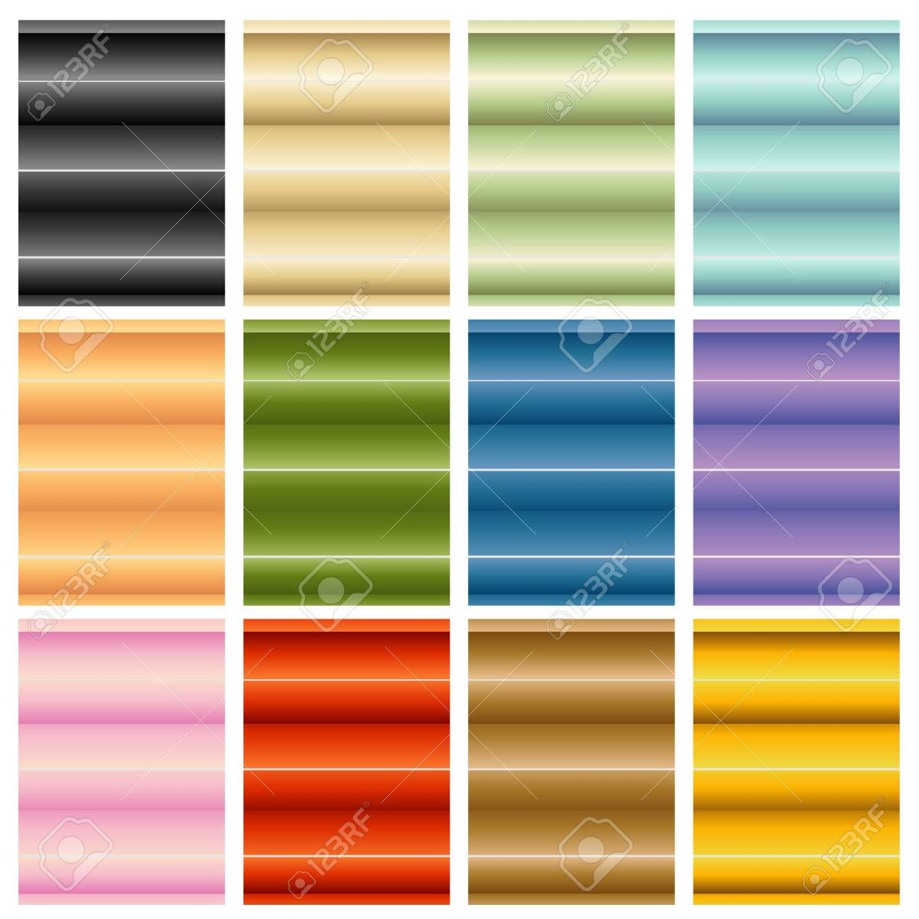 an image of window blinds shades set stock vector