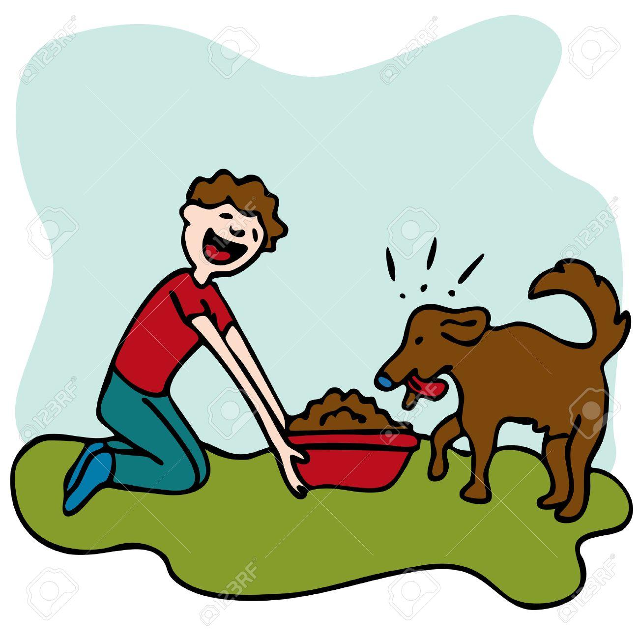 Resultado de imagen para feed the dog animado