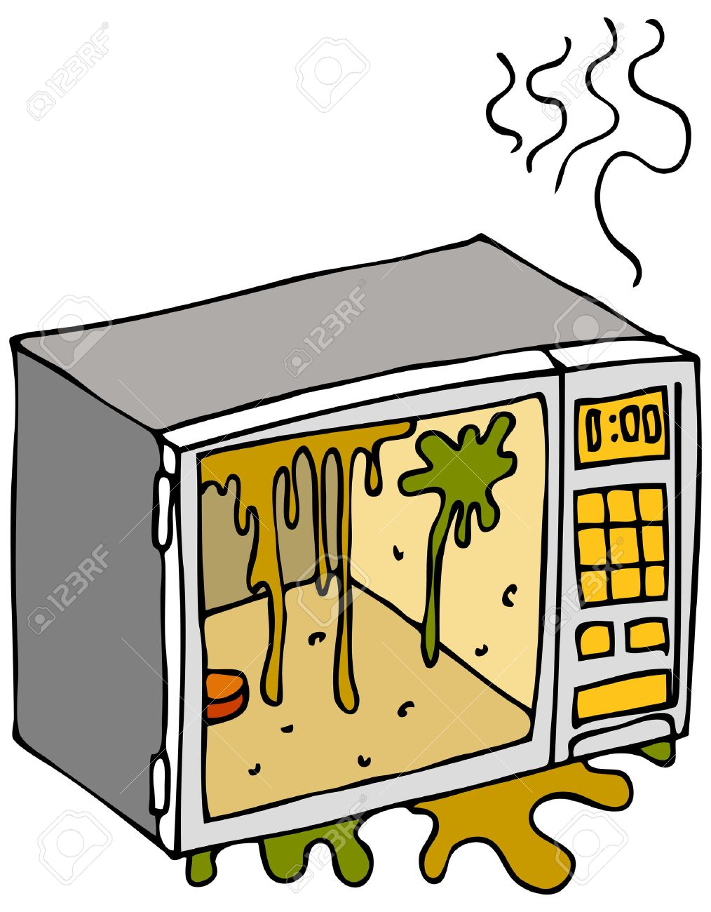 microwave clipart. an image of a dirty microwave oven. stock vector - 8525364 clipart