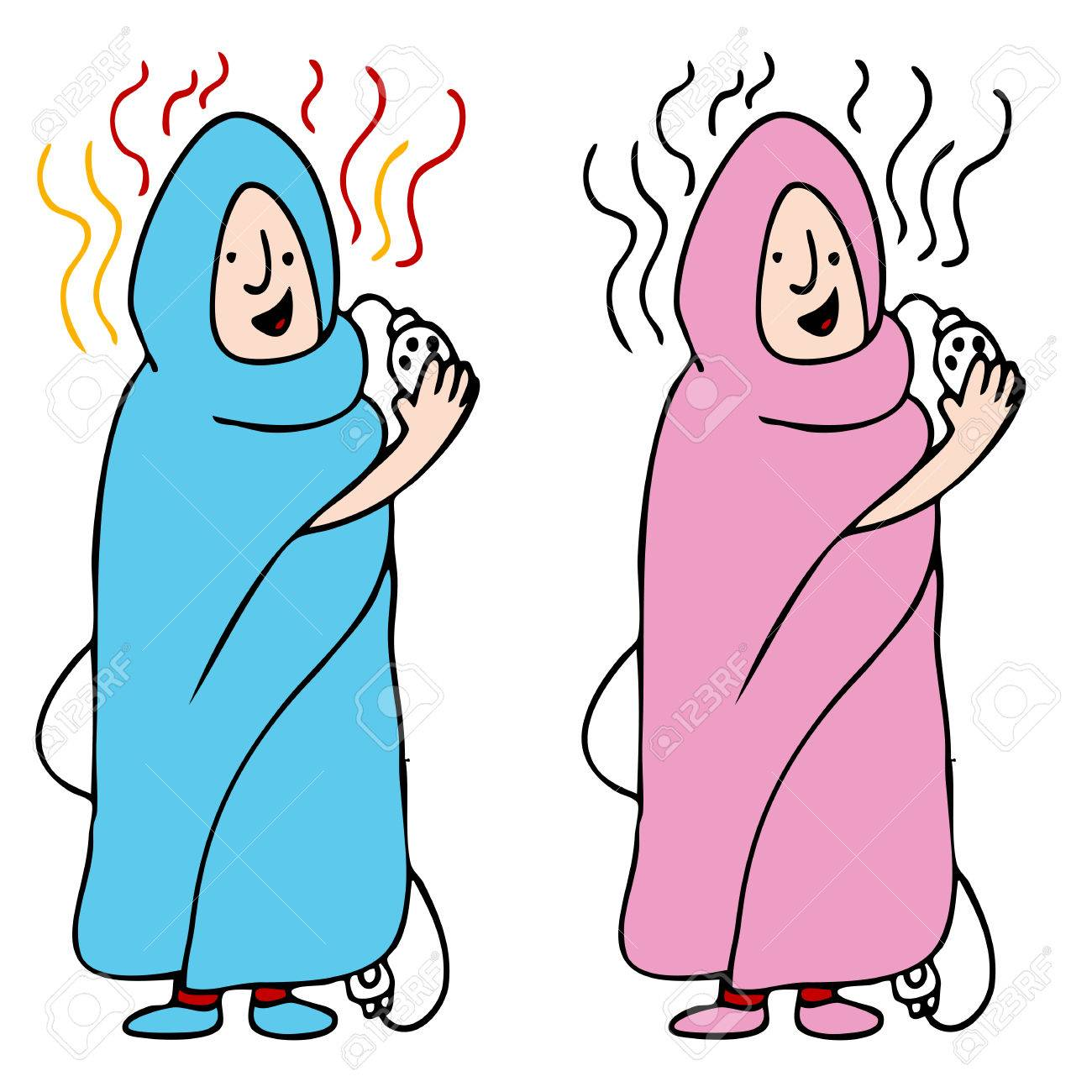 An image of a man and woman using an electric blanket. - 8525376