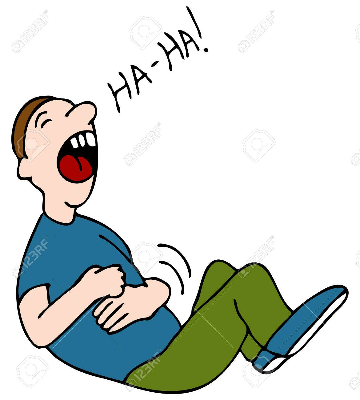 an image of a laugh hysterically while hold his stomach royalty rh 123rf com clipart laughing hysterically clipart laughing hysterically