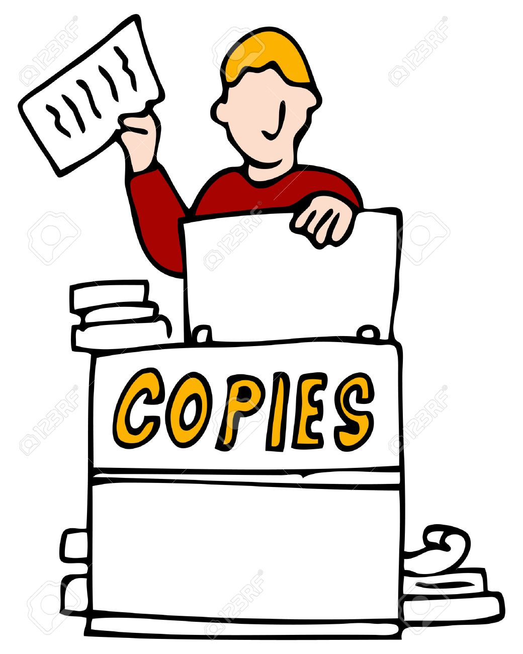 showing post media for making copies cartoon www