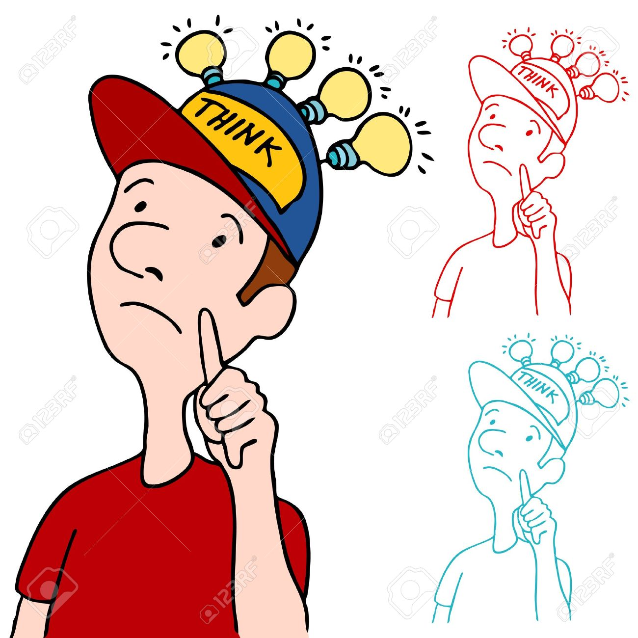 an image of a man wearing his thinking cap royalty free cliparts rh 123rf com