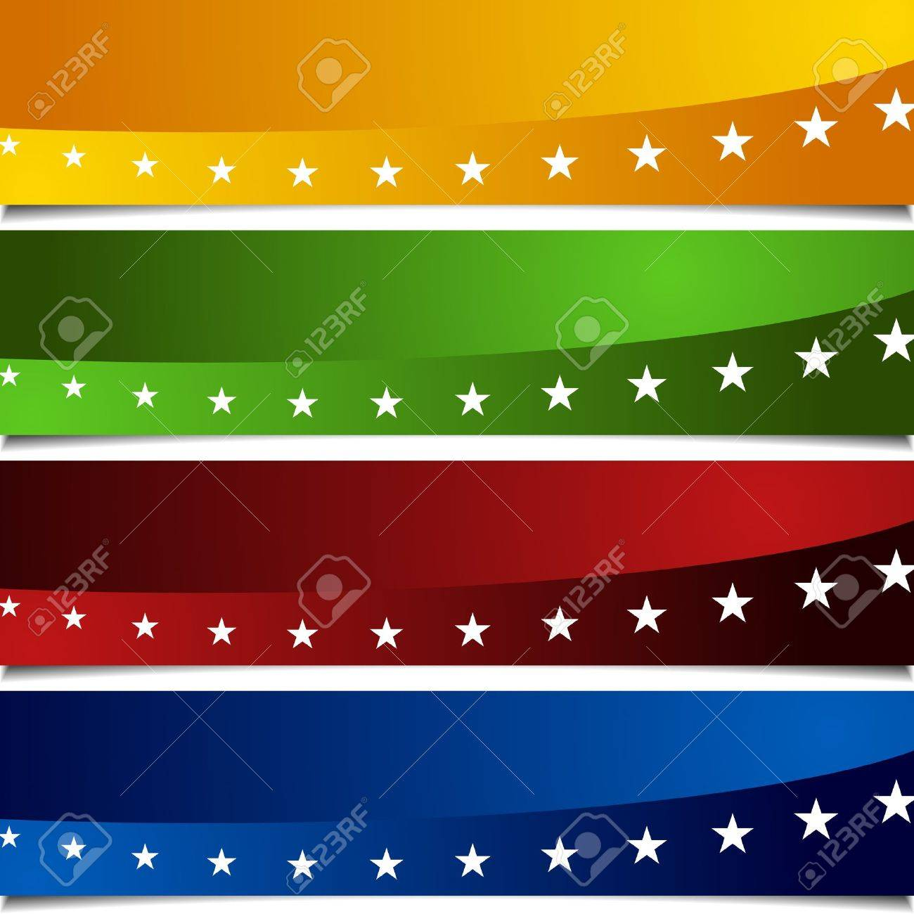 An image of a page peel patriotic banners Stock Vector - 9377683