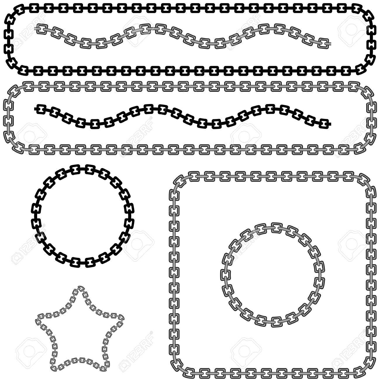 An image of a chan link design element set. Stock Vector - 9518143