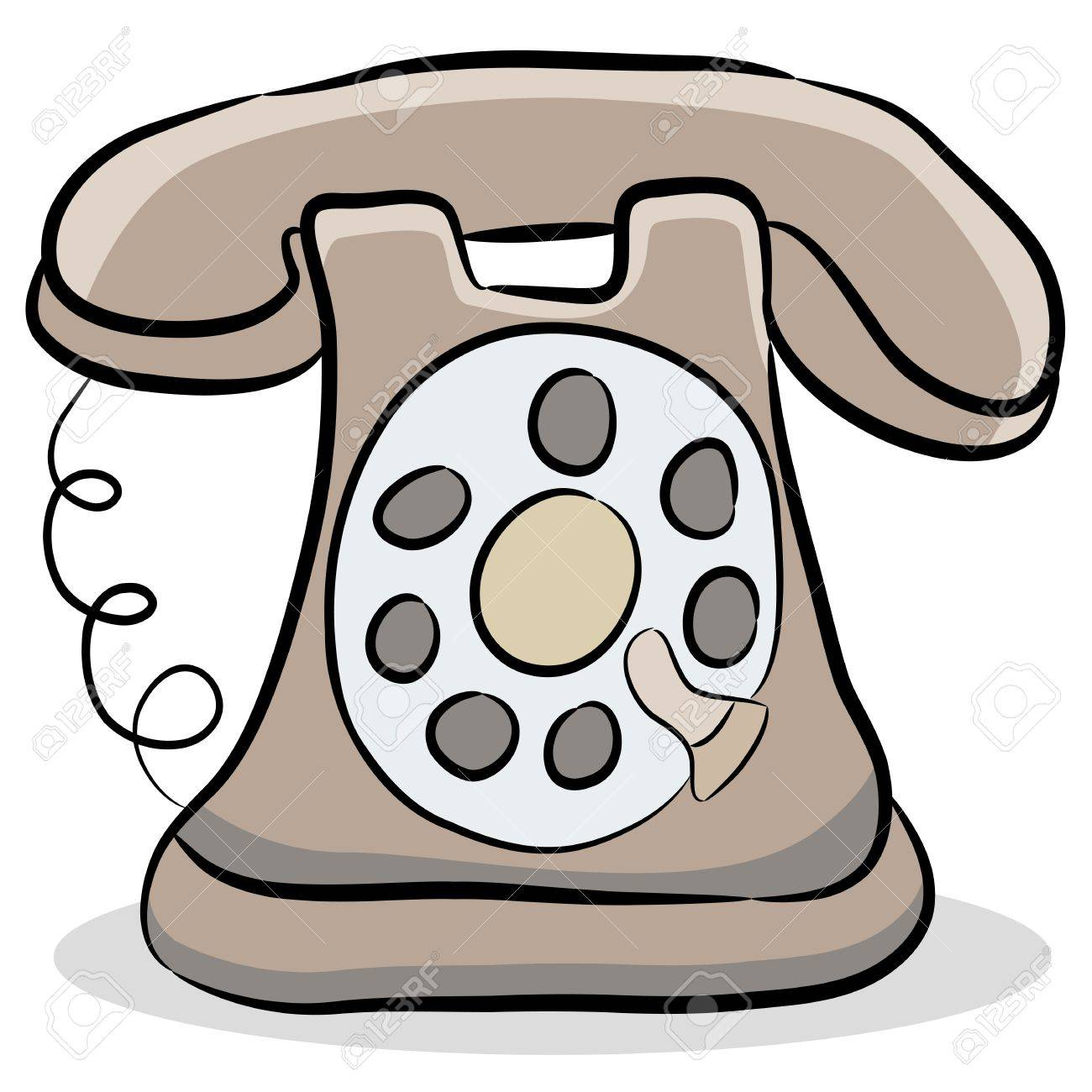 An Image Of A Old Fashioned Telephone Royalty Free Cliparts