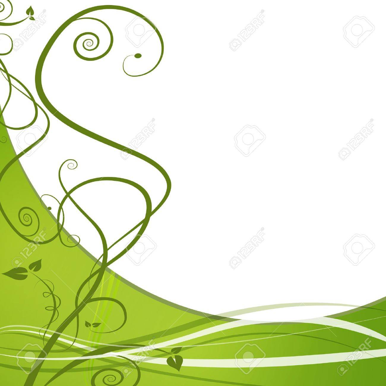 An image of a green vine leaf abstract background. Stock Vector - 9721702