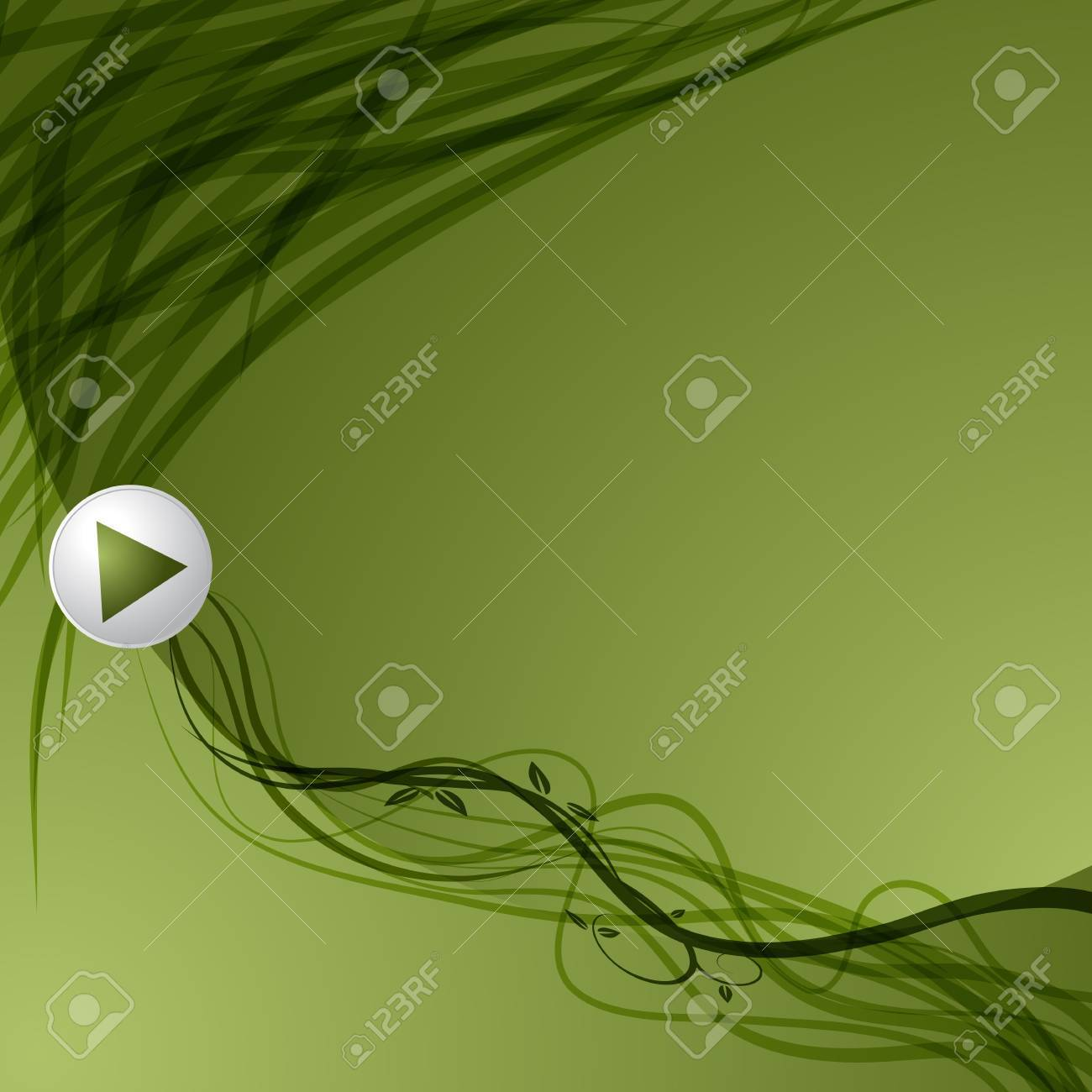 An image of a green leaf vine arrow background. Stock Vector - 9805366