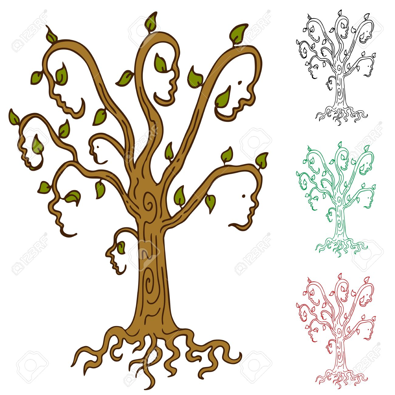 An abstract image representing a family tree. Stock Vector - 10171041