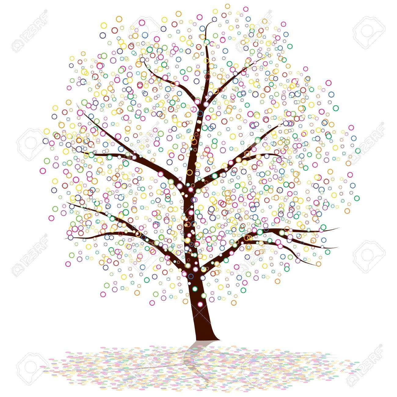 An image of a dot tree. Stock Vector - 10205057