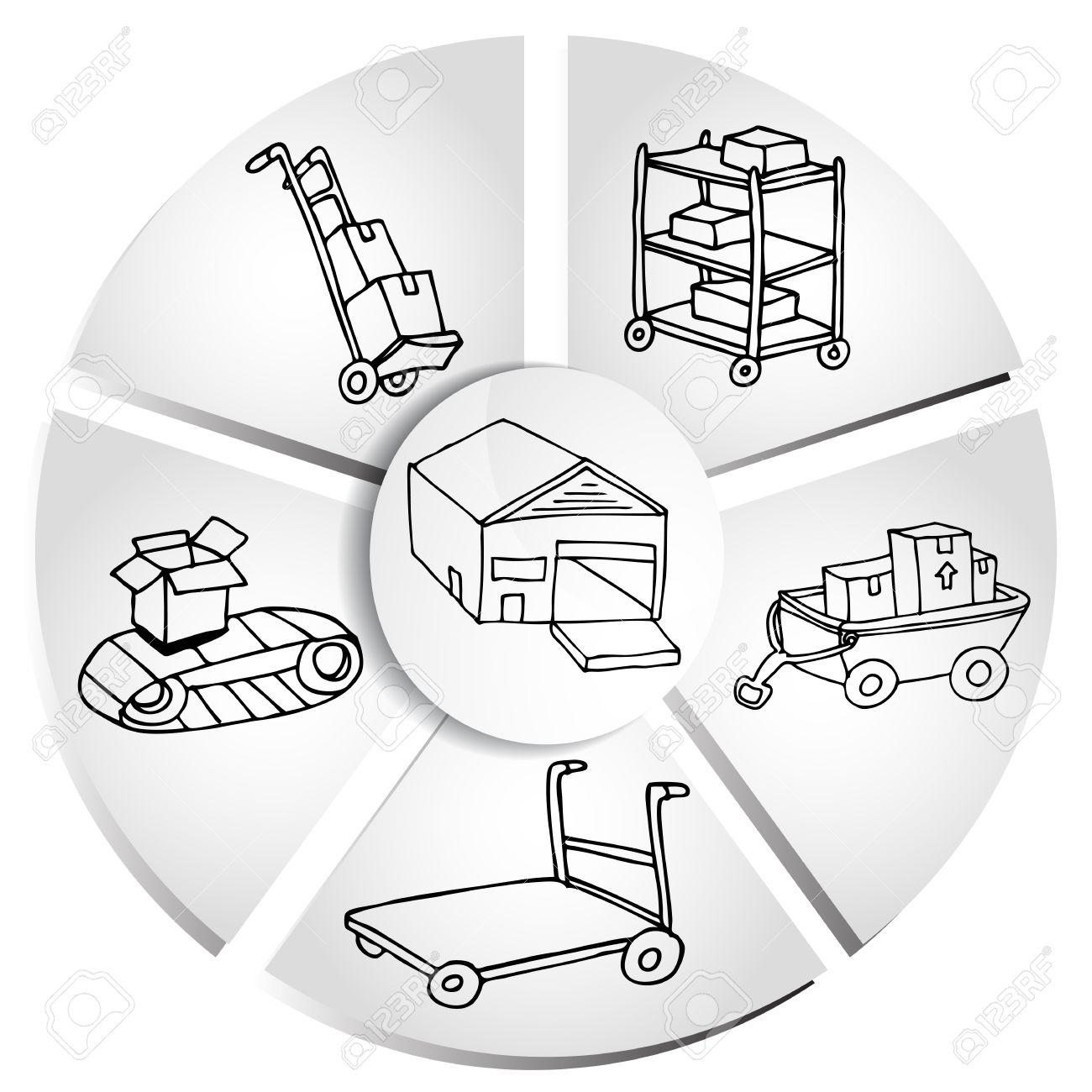 An image of a shipping box manufacturing chart royalty free an image of a shipping box manufacturing chart stock vector 10302345 buycottarizona Gallery