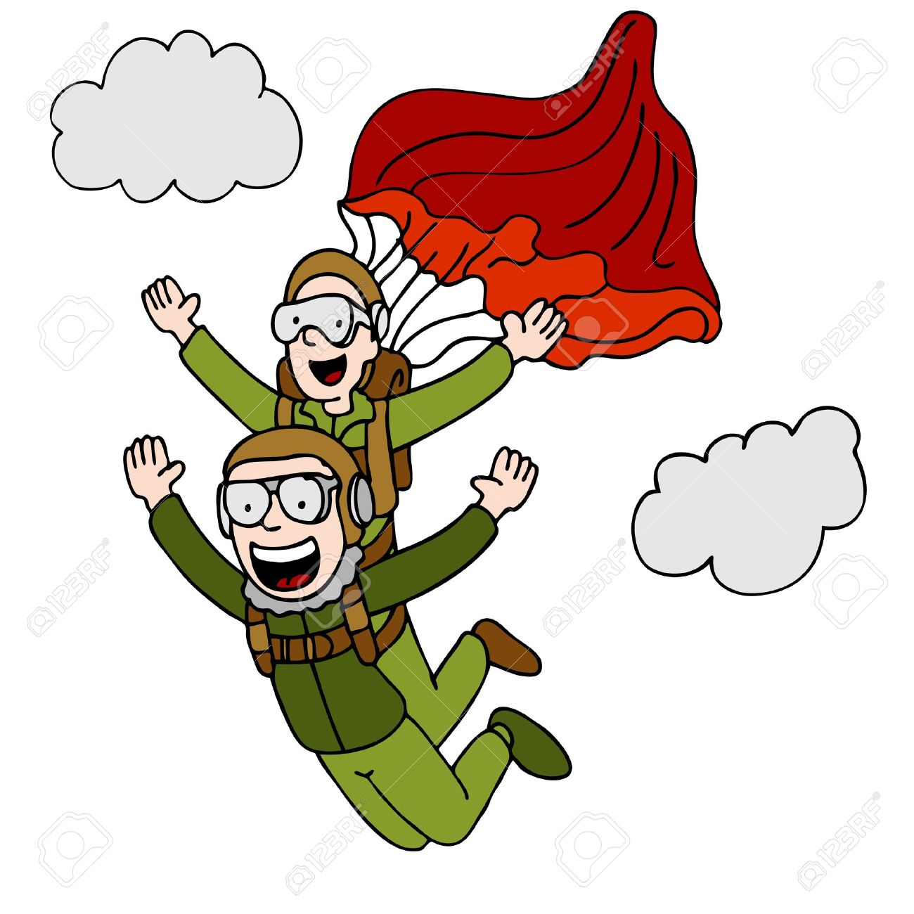 Parachute Cartoon Stock Photos Royalty Free Parachute Cartoon regarding Brilliant  free animated clipart parachute for your reference