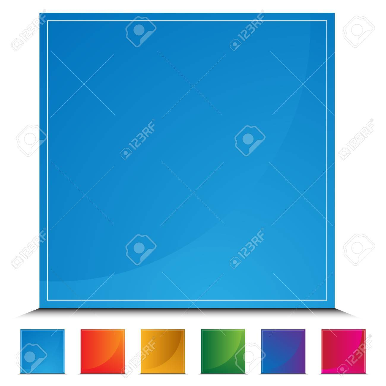 An image of a square web button. Stock Vector - 11012184