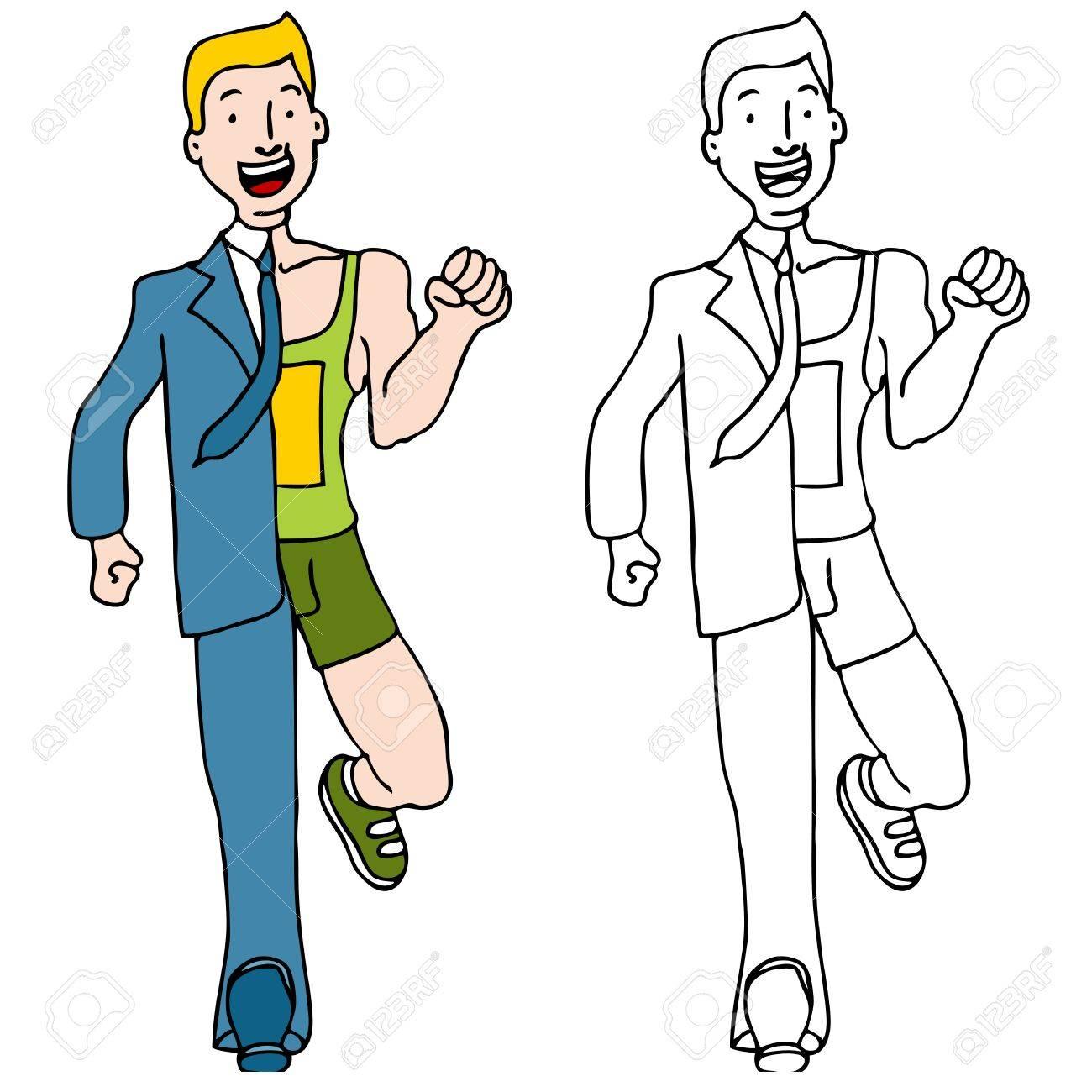 An image of a businessman runner. Stock Vector - 11350265