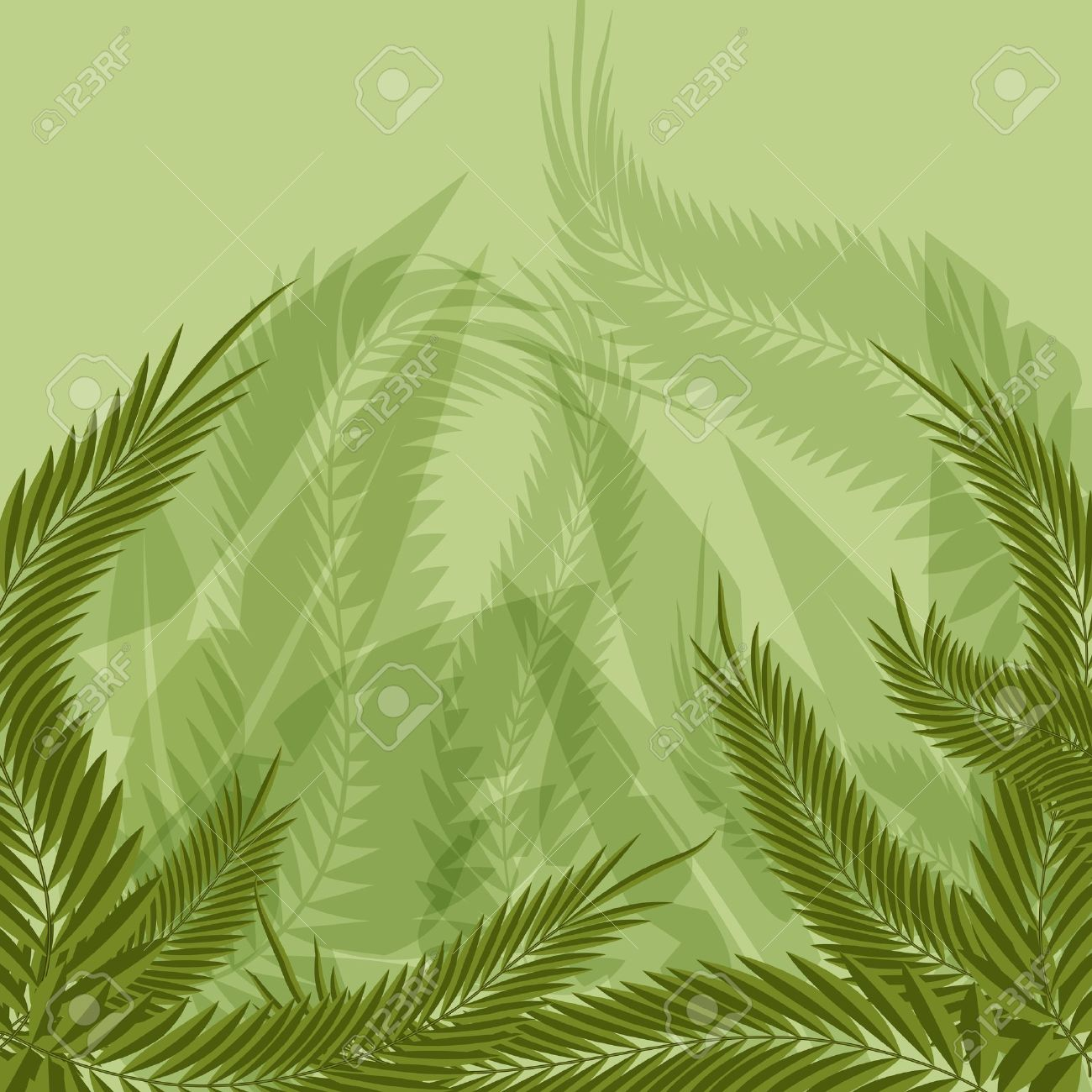 An image of a jungle forest background. Stock Vector - 13933173