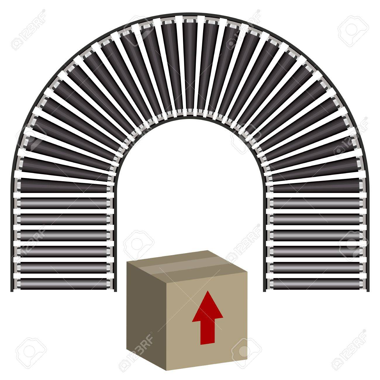 An image of a arc conveyor belt icon and box royalty free cliparts an image of a arc conveyor belt icon and box stock vector 14177757 buycottarizona Gallery