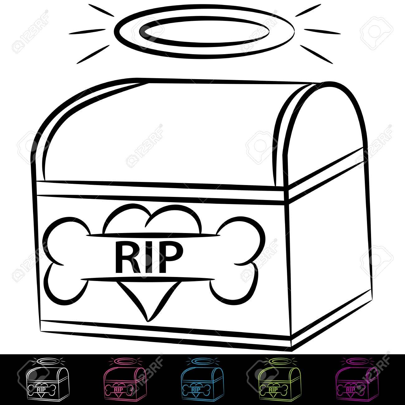 An image of a dog cremation box royalty free cliparts vectors and an image of a dog cremation box stock vector 14394307 buycottarizona Gallery