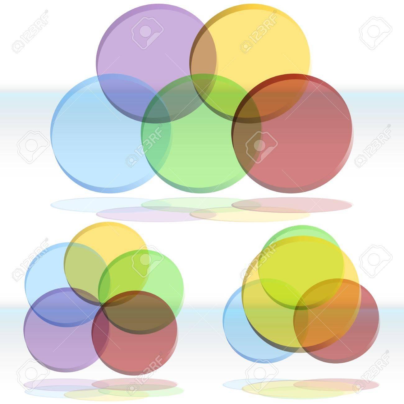 An image of a 3d venn diagram set. - 14770200