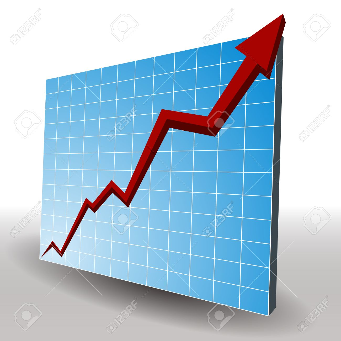 an image of a 3d profit line chart. royalty free cliparts, vectors