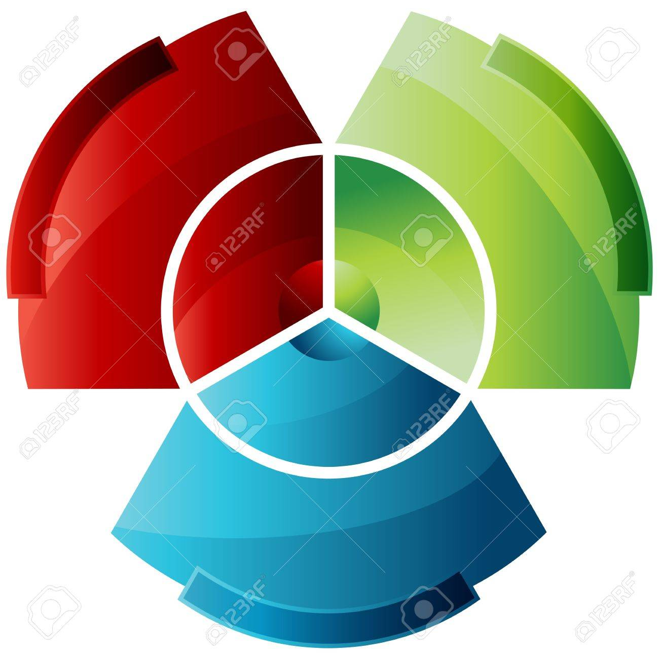 An image of an abstract partitioned pie chart. Stock Vector - 14976666