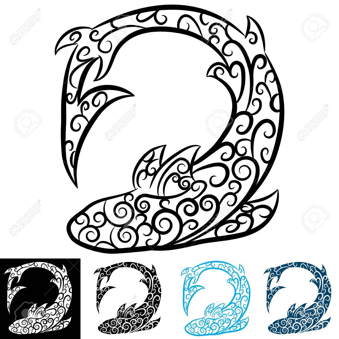 An image of a shark swirl tattoo royalty free cliparts vectors an image of a shark swirl tattoo stock vector 15561301 biocorpaavc Images