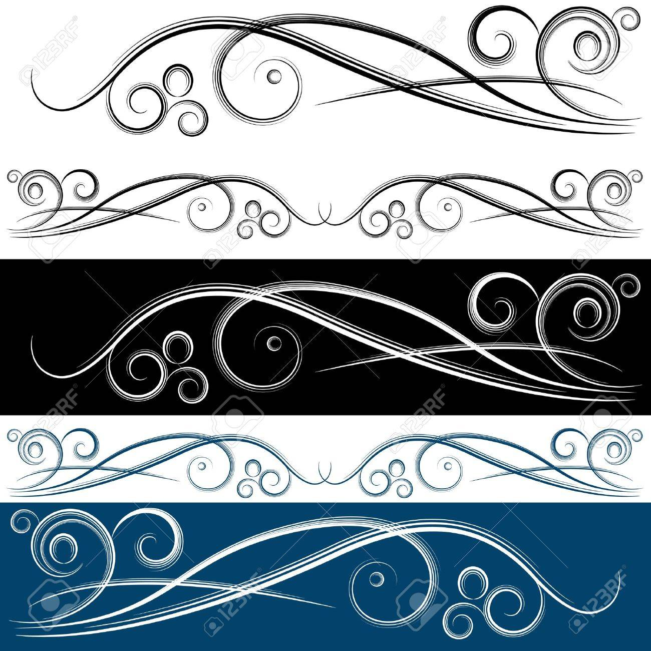 An image of a swirl banner set