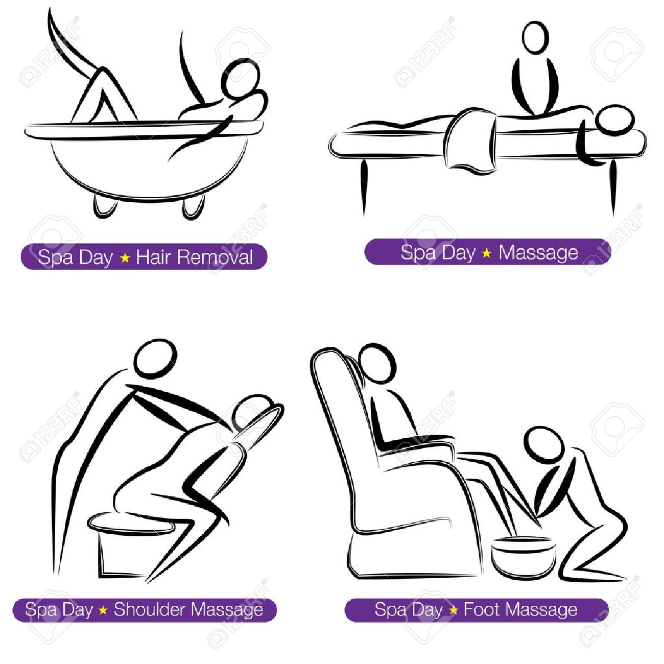 Cartoon physical therapy - Physical Therapy Cartoon An Image Of A Spa Day People Set Illustration