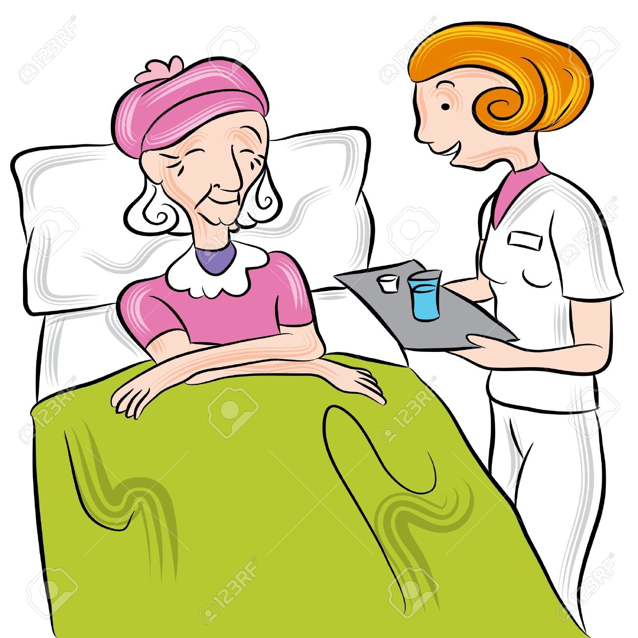 an image of a nurse giving medication to a senior in a nursing rh 123rf com nursing home ministry clipart nursing home ministry clipart