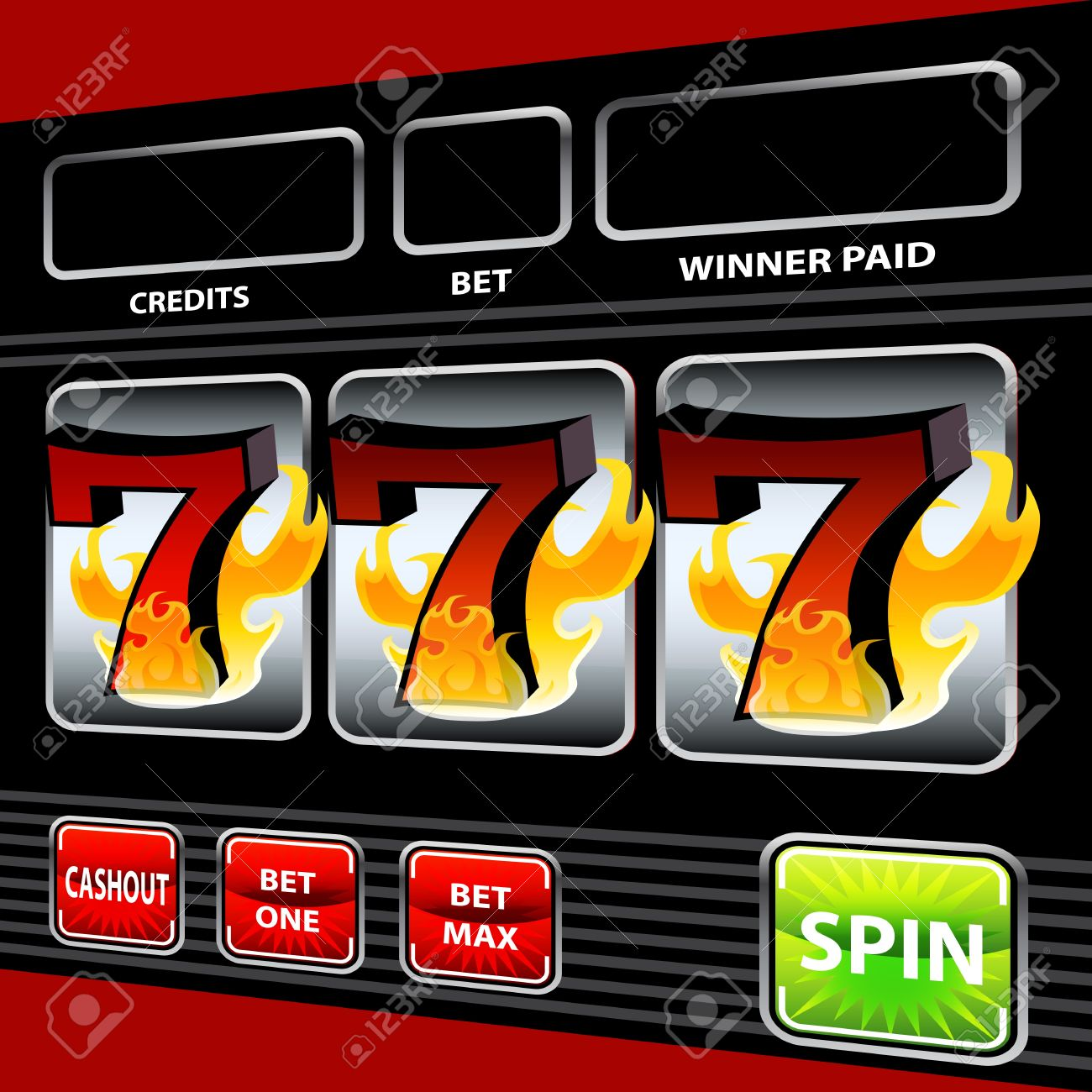 Flaming 7s slot machines