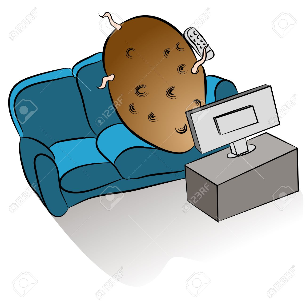 an image of a couch potato watching tv royalty free cliparts rh 123rf com  couch potato clipart free