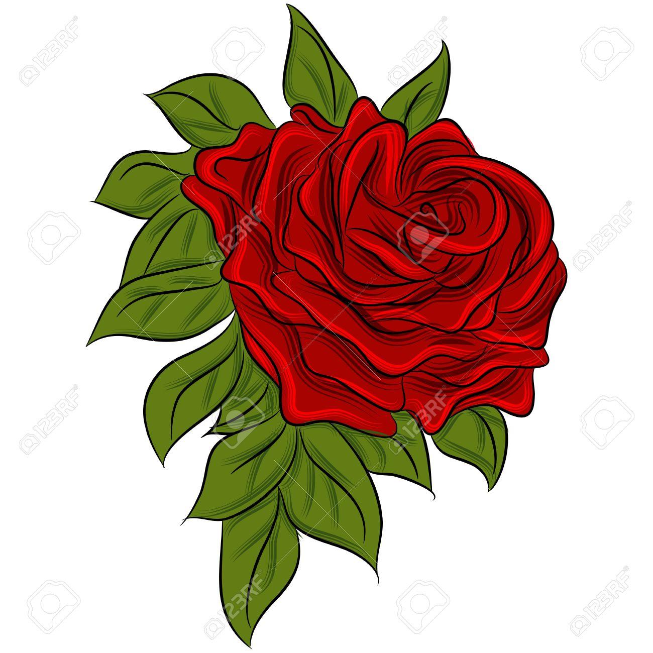 Рисунок розы картинки